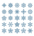 Different snowflake elements set vector image