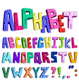 3d cartoon alphabet vector image vector image