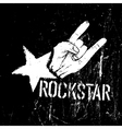 grunge rockstar vector image