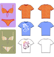 swimsuit and tee vector image