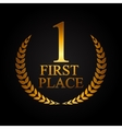 First Place Laurel Design Label vector image