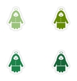 Set of paper stickers on white background Virgin vector image
