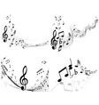 musical sheet set vector image vector image