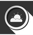black icon with partly cloudy and stylized shadow vector image