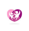 couple love people heart logo vector image