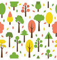 Seamless tree pattern in flat style Cute vector image