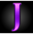 violet plastic figure j vector image