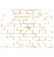 Brick wall gold texture pattern black decorative vector image