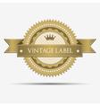Retro vintage label vector image vector image
