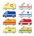 cars icon set isolated on white vector image