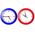 clock blue and red vector image vector image