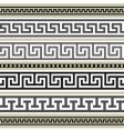 greek borders collection vector image vector image