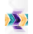 Colorful arrows composition vector image vector image