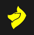 abstract yellow dog symbol icon vector image
