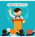 Cartooned World of Politics Concept vector image