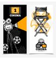 Cinema Vertical Banners vector image