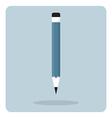 flat icon wooden pencil vector image