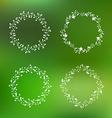 Floral Wreath Set vector image