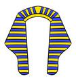 headdress of pharaoh icon cartoon vector image