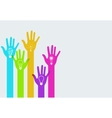 modern colorful hands infographics vector image