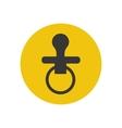 Nipple silhouette vector image