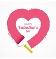 Pink Valentine Heart vector image
