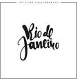 Rio de Janeiro inscription calligraphy on a white vector image