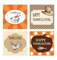 Set of Thanksgiving cards invitations vector image