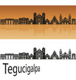 tegucigalpa skyline vector image