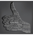 the thumbs up symbol which is composed of words vector image vector image