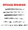 Black and white sponge print striped grunge vector image
