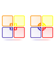 Set of Colorful Four Options Template vector image vector image