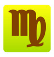 virgo sign brown icon at vector image