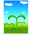Plants sprouting landscape vector image vector image
