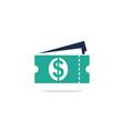 coupon dollar logo vector image