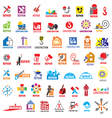 biggest collection of logos construction vector image vector image