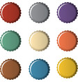 Colorful bottle caps vector image