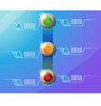 Technology border vector image