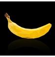 polygon banana vector image vector image