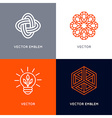 set of abstract logo design templates in trendy vector image vector image