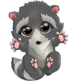 beautiful gray raccoon vector image