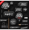 Black Friday sale tags and labels vector image