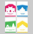 collection of colorful posters with white vector image