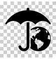 earth umbrella icon vector image