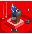 Election Infographic Lecture Hall Isometric People vector image