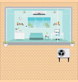 living room with air conditioning vector image