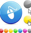 Mouse glossy button vector image