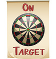 On target text and concept vector image