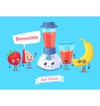 Set of breakfast characters cute cartoons vector image