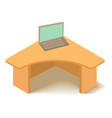 table icon isometric 3d style vector image